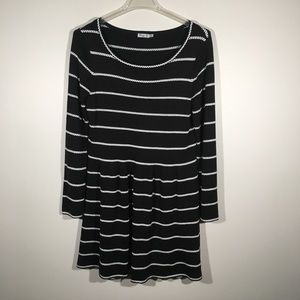 Eliza J Black and White Pull Over Sweater Dress XL